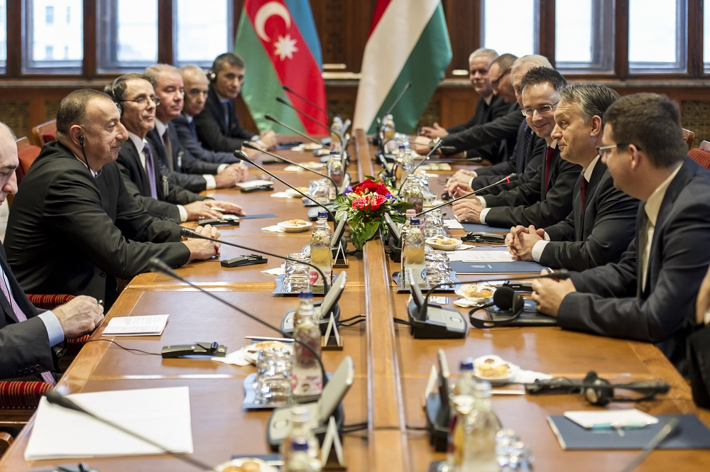 Azeri President Ilham Aliyev On Official Visit To Budapest post's picture