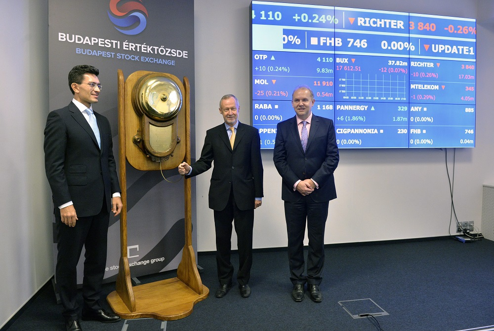 Richter Celebrates 20 Years Anniversary Of Listing On Budapest Stock Market post's picture