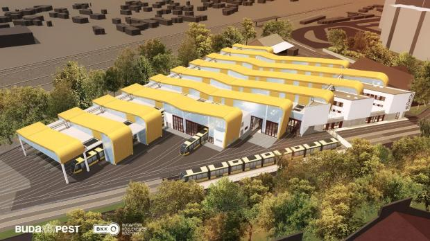 Plans For Buda's New Ultra-Modern Tram Garage Revealed post's picture