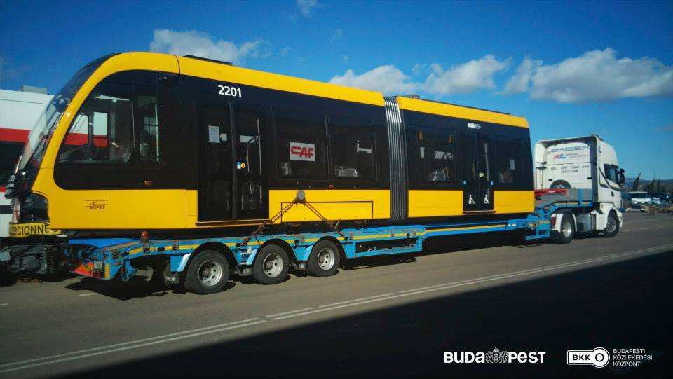 First New CAF Tram On Its Way To Budapest – Gallery! post's picture