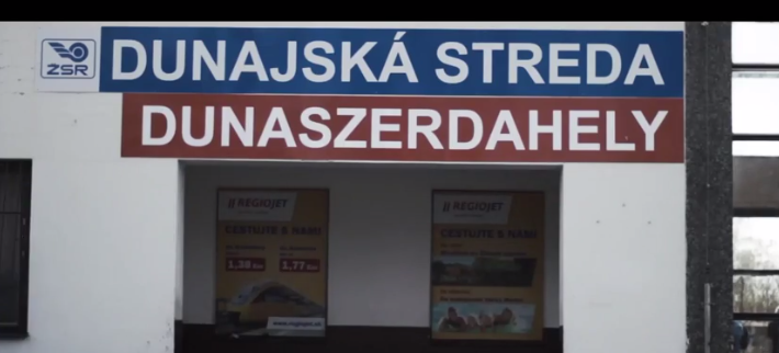 Ethnic Hungarians Install Hungarian-Language Sign At Railway Station In Southern Slovakia post's picture
