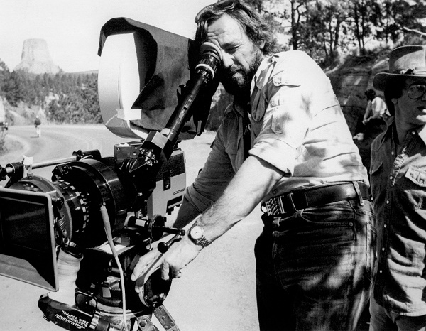 "Zsigmond Vilmos working on Spielberg's ""Close encounters"" (photo: Peter Sorel)"