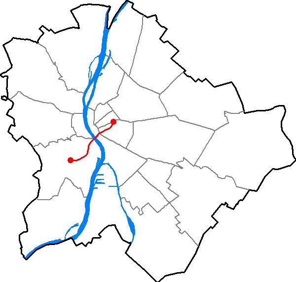 Budapest M4 metro line (source: wikimedia)