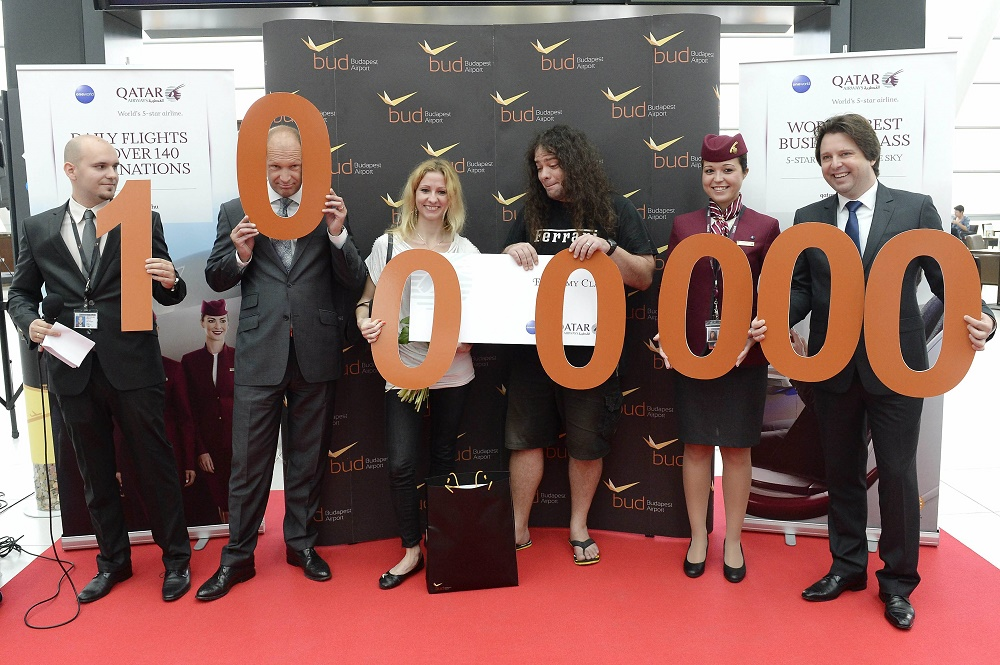 Budapest Airport Welcomes July's 1.000.000th Passenger With Gifts Worth 1.000.000 Forints post's picture