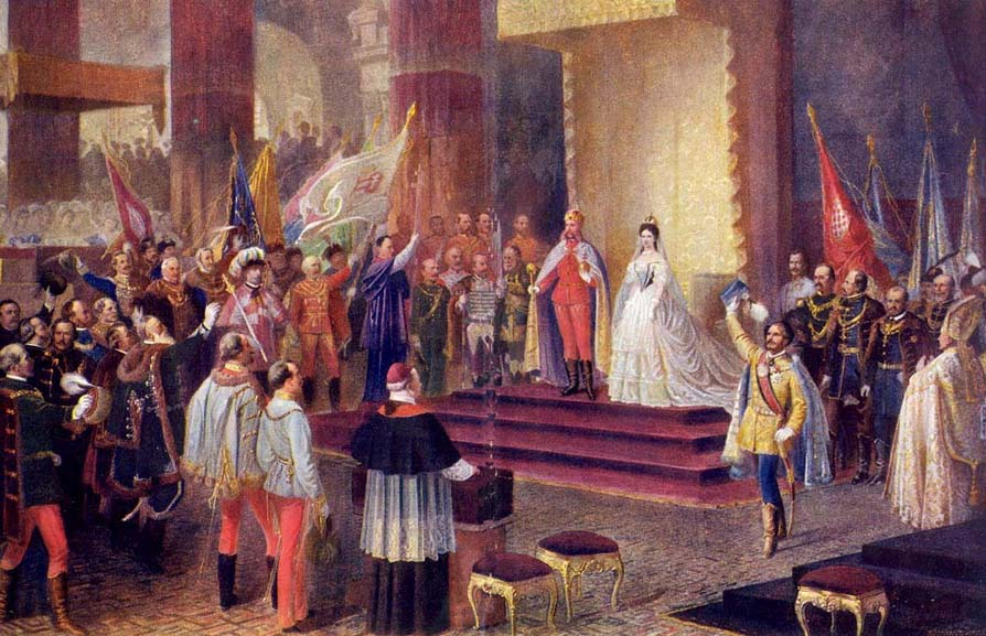 Franz Joseph's Coronation Ceremony in Buda on 8th of June 1867