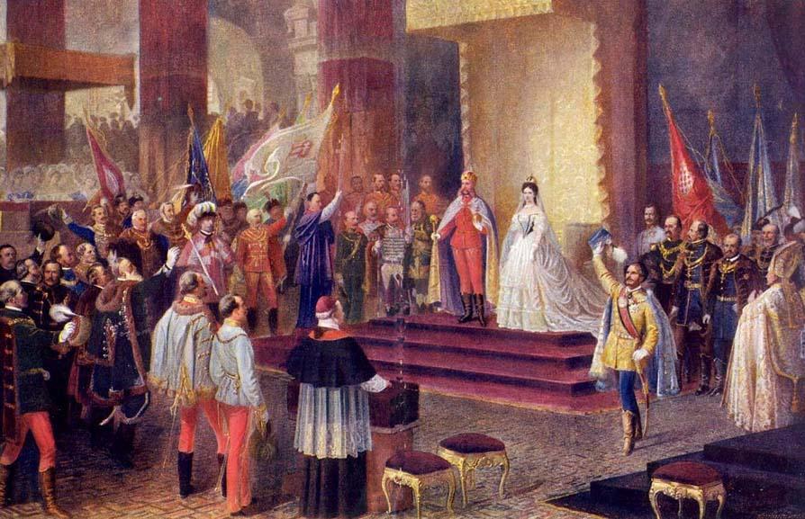Franz Joseph's Coronation Ceremony in Buda on 8th of June 1867