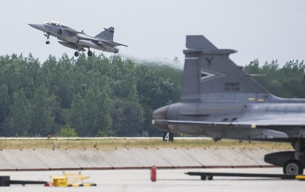 Hungarian Gripen Fighters On Missions Above Central And Eastern Europe post's picture