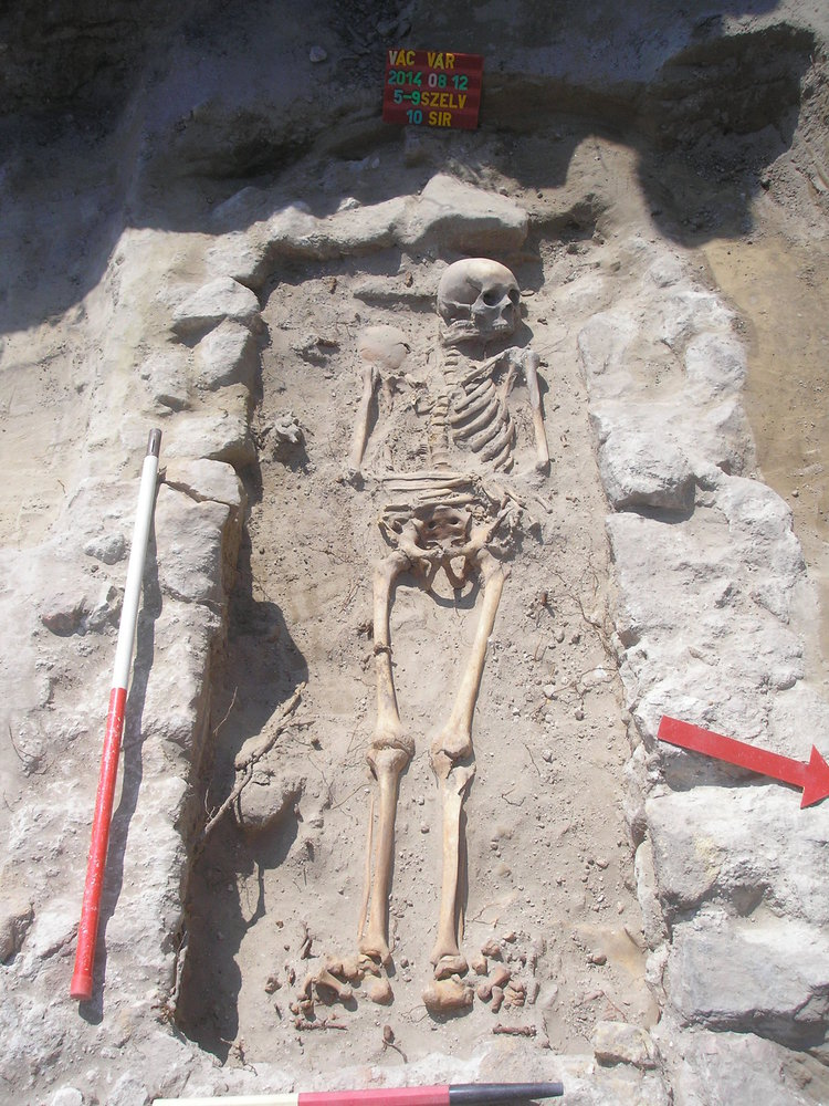 Medieval burial place discovered in Vác (source: multkor.hu)