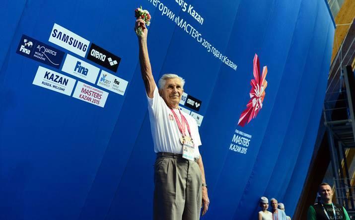 Kazan 2015: 95-Year-Old Hungarian Man Breaks Senior World Record In 200m Backstroke post's picture