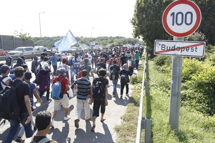 Hundreds Of Refugees Leave Budapest On Foot As Hungarian Parliament Tightens Migration Rules post's picture