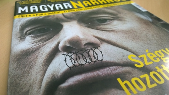 Government Supporters Rally Against Liberal Weekly's Cover Comparing Border Fence-Building PM To Hitler post's picture