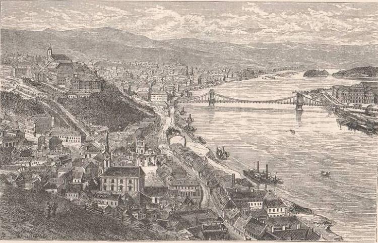 Budapest 1873 engraving