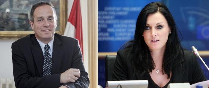 MEPs György Hölvényi (HU) and Elisabeth Köstinger (AT)