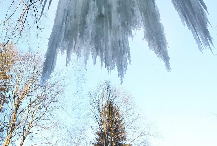 Megfagyott a lillafüredi vízesés
