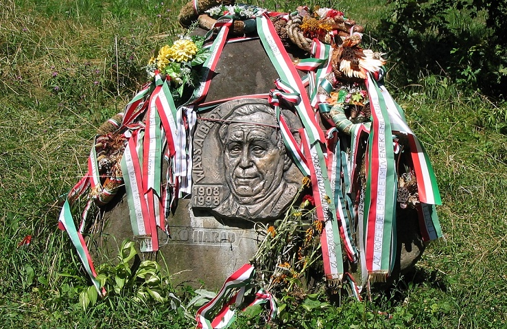 Albert Wass memorial in the village of Marosvécs, inTransylvania, Romania