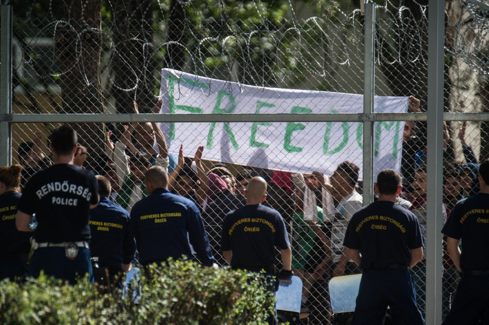 "Hundreds Of Migrants Demand ""Freedom"" In Protest At Hungarian Refugee Camp post's picture"