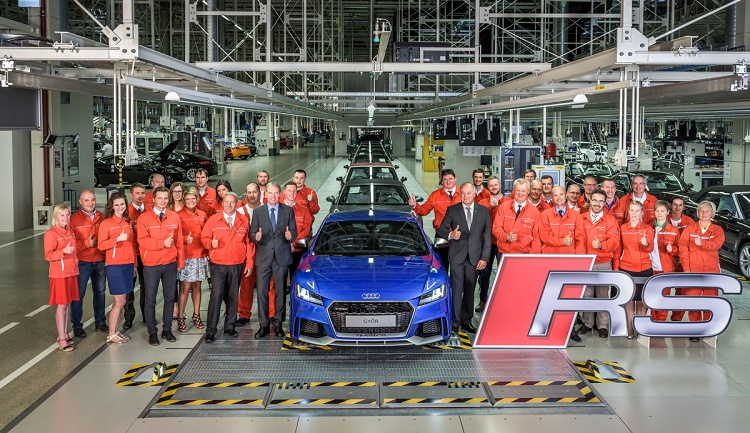 Serial Production Of New Audi TT RS Model Has Begun In Győr, Hungary post's picture
