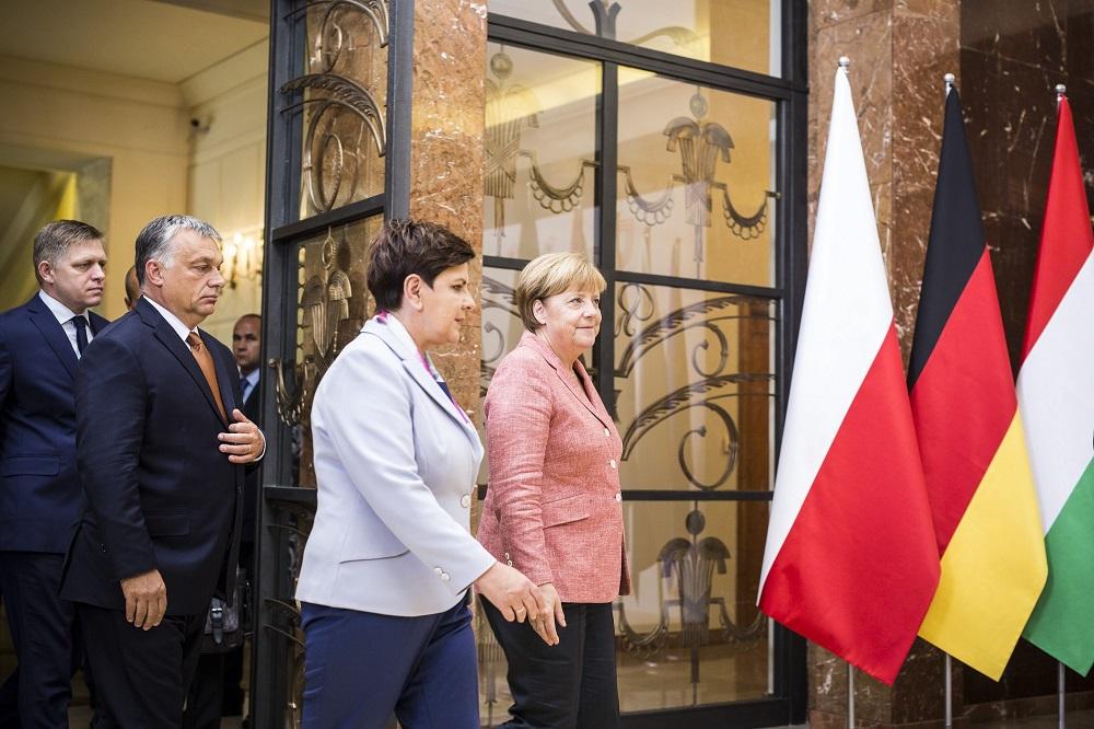 Hungary Urges Common European Army As Visegrad Leaders Meet Angela Merkel In Warsaw post's picture