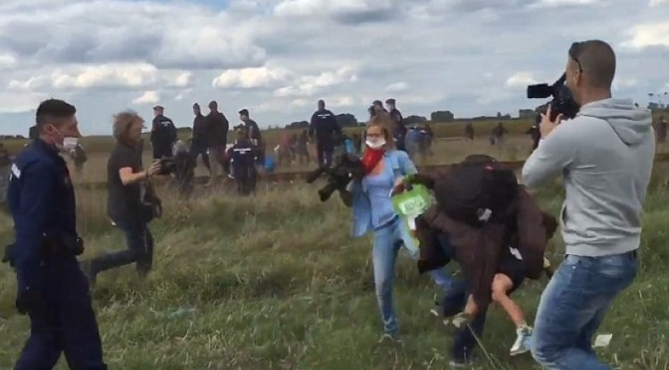 """""""Refugee Tripping"""" Camerawoman Petra László Faces Disorderly Conduct Charges post's picture"""
