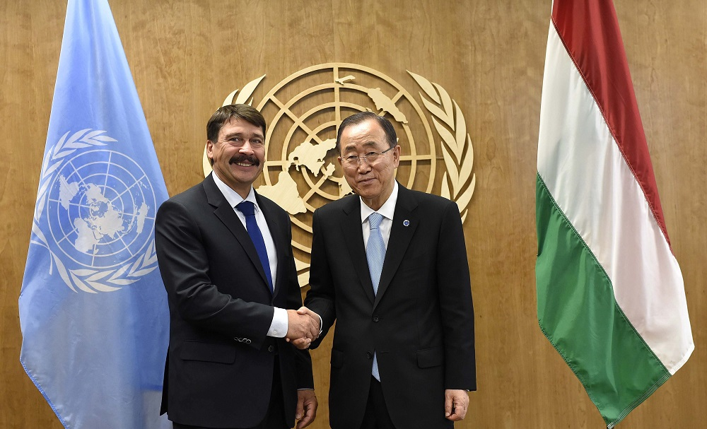 """Call To Action"": Hungary's President János Áder Attends UN General Assembly Session In New York post's picture"