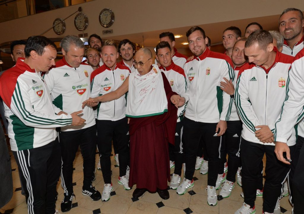 Players Of The Hungarian National Team Met The Dalai Lama In Riga post's picture