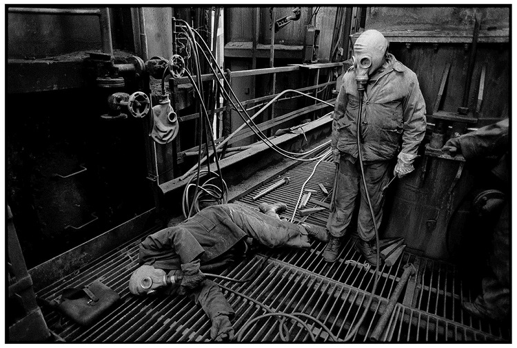 Repairmen, Gas Furnace Factory, Ózd, 1989.