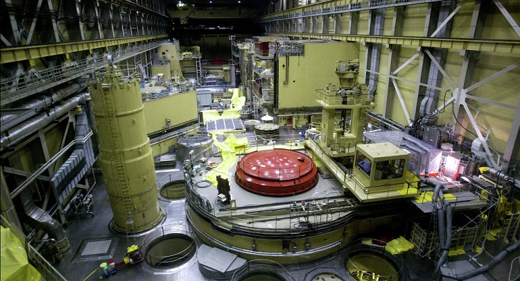 The interior of the Paks Nuclear Power Plant