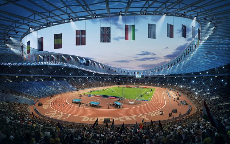 Budapest, 2017. január 4. A Budapest 2024 által 2017. január 4-én közölt legfrissebb aktuális látványterv az Olimpiai Park helyszíncsoportban található Olimpiai Atlétikai Stadionról, amely a IX., X. és XXI. kerületekben, a Kvassay-zsilip térségében van, és az esetleges 2024-es budapesti olimpia egyik helyszíne lesz. A látványtervet a Brick Visual, az építési terveket a BORD Építész Stúdió készítette. A 2024-es olimpia rendezési jogáért a magyar fõváros Los Angelesszel és Párizzsal verseng, a Nemzetközi Olimpiai Bizottság (NOB) szeptember 13-án, Limában dönt a helyszínrõl. MTI Fotó