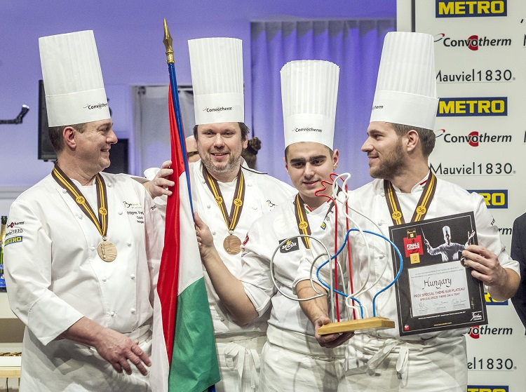 Tamás Széll and the Hungarian Team Win Fourth Place, Two Special Awards at Bocuse d'Or Cooking Championship post's picture