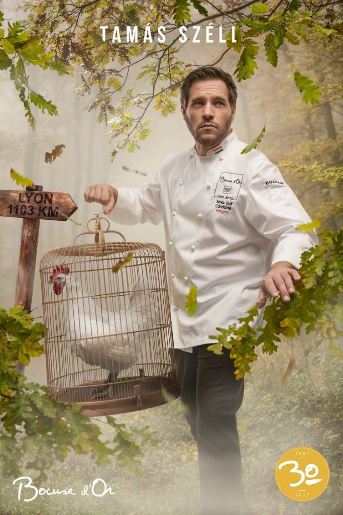 The Hungarian team's official competition poster, which won the crowd prize for best poster at this year's Bocuse d'Or Finale.