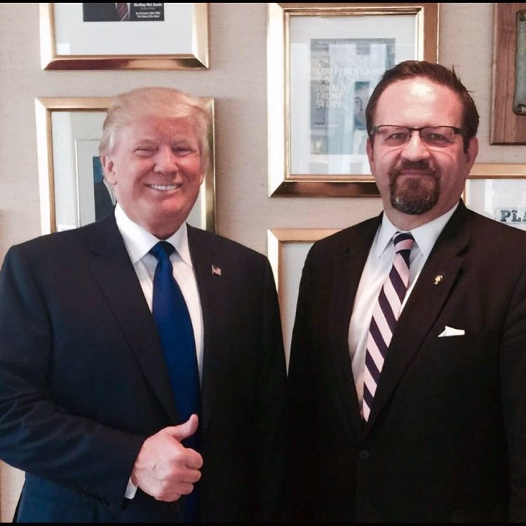 Sebastian Gorka with US President Donald Trump (Photo: Sebastian Gorka Facebook).