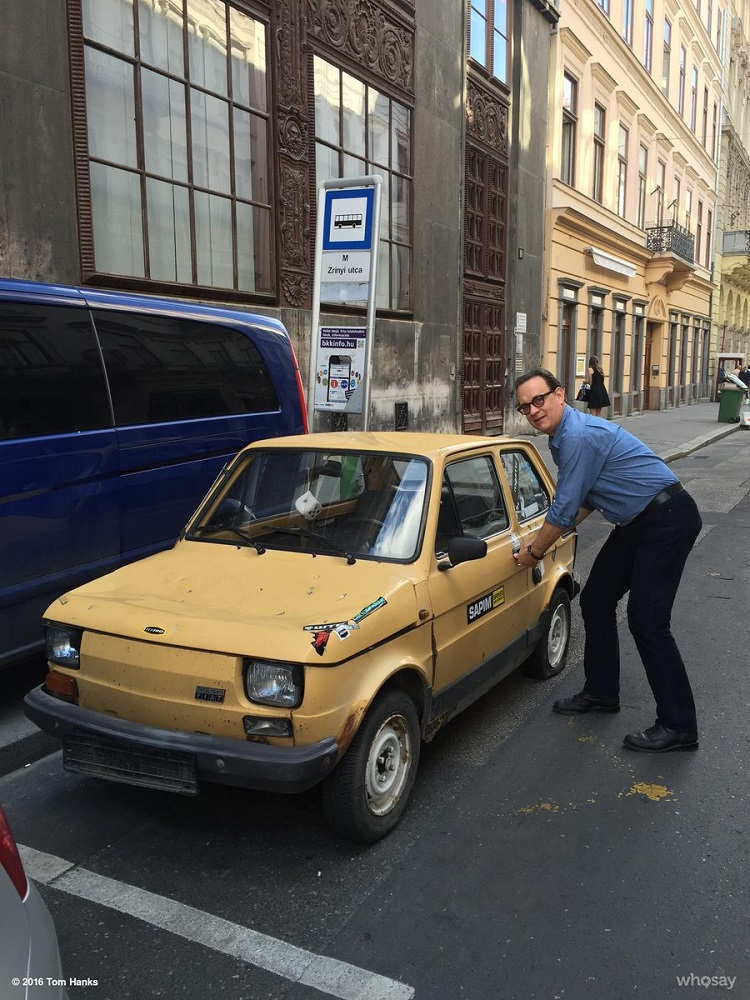 Following Tweets in Hungary, Polish Fans are Sending Tom Hanks a Tiny Polski Fiat Car post's picture