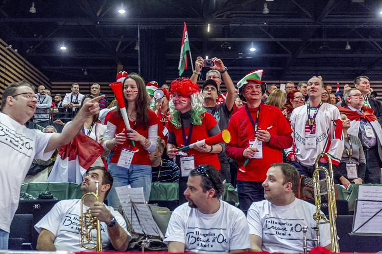 Hungarian fans cheering their team on at the Bocuse d'Or Finale (Photo: