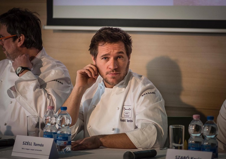 Hungarian chef Tamás Széll at a press conference held on January 11th (Photo- Péter Csákvári).