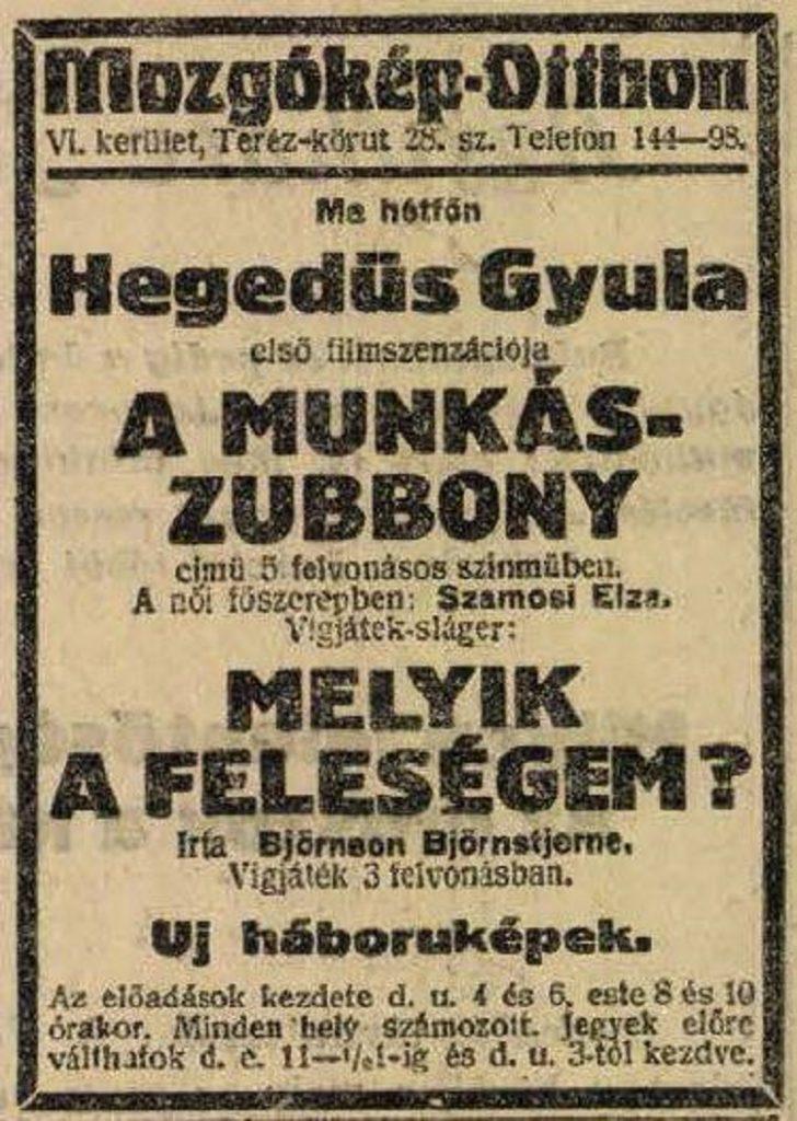 hegedus film reklam