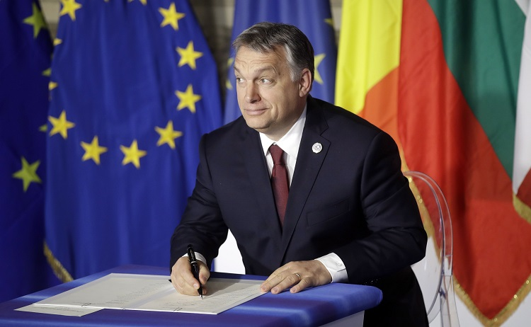 "Hungarian Premier Joins EU Leaders To Sign ""Good Document"" Marking EU's 60th ""Birthday"" post's picture"