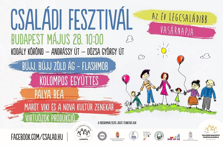 "The poster for this year's ""Famiy Festival,"" which will be held on May 28th as part of the Budapest Family Summit (Image: budapestfamilysummit.com)"