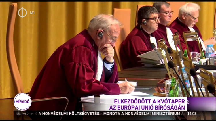 Judges hearing arguments before the European Court of Justice (Image: hirado.hu)