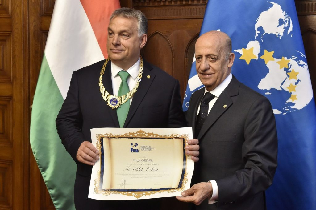 Viktor Orbán Receives FINA's Highest Award From Swimming Organization President post's picture