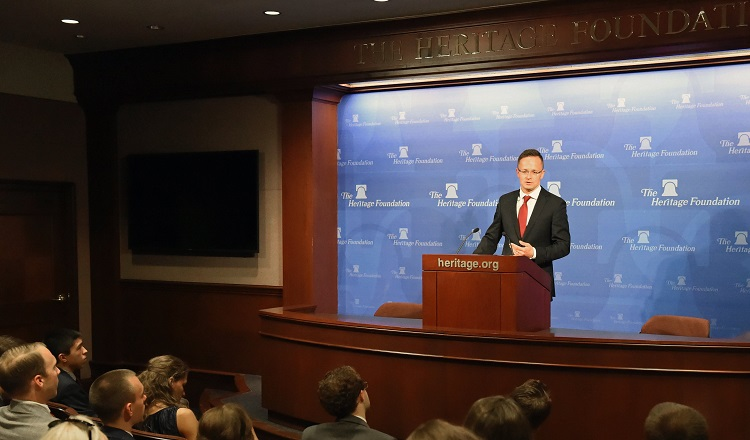 Hungary's Top Diplomat Hails Donald Trump's Foreign Policies In Washington DC Speech post's picture