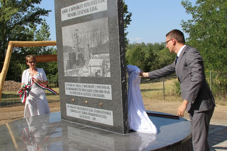 State Secretary Bence Rétvári Inaugurated A Memorial to the Former Labour Camp In Oroszlány post's picture