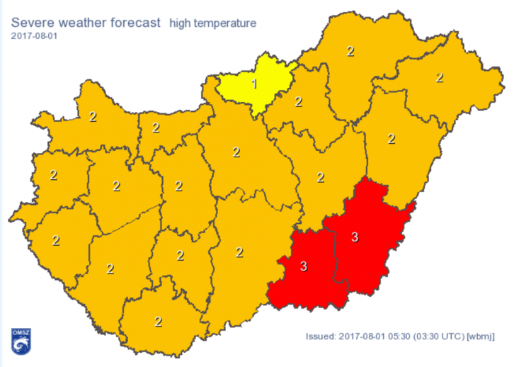 Nationwide Heat Alert Issued from Tuesday to Friday in Hungary, High Temperatures of 40 °C Expected post's picture
