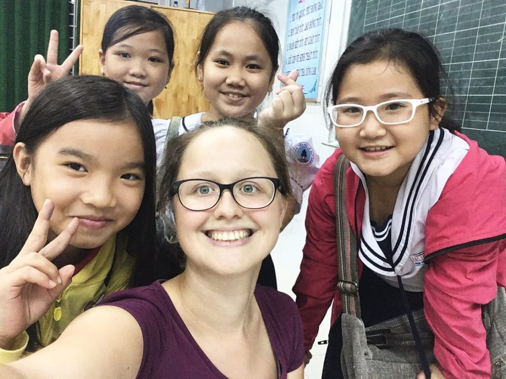 Hungarian Girl Teaches English to Children in Vietnam post's picture