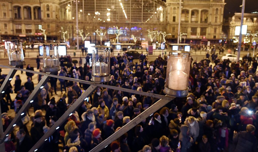 First Candle for Hanukkah Lit in Budapest post's picture