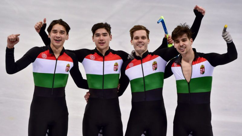 BREAKING: Hungary Wins First Ever Winter Olympics Gold in Men's 5,000m Relay post's picture