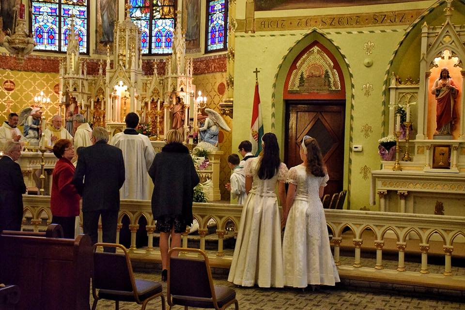 "Holy Cross Hungarian Church in Detroit Hosts ""Mass Mob"" Opener  post's picture"