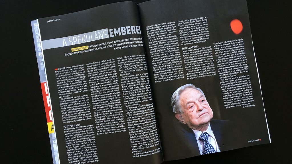 "Pro-Orbán Magazine Publishes List of Professors, Journalists, and Others It Claims are ""Soros Mercenaries"" post's picture"