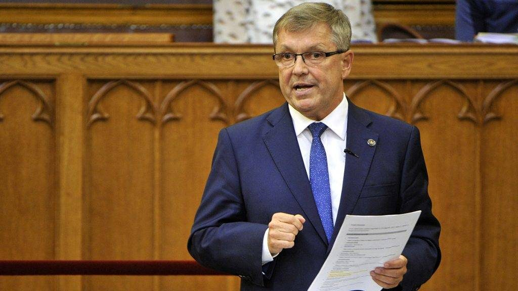 György Matolcsy current governor of the Hungarian National Bank (MNB). He also served as Minister of Economy (2000–2002) during the first cabinet of Viktor Orbán and Minister of National Economy (2010–2013) in the Second Orbán Cabinet.