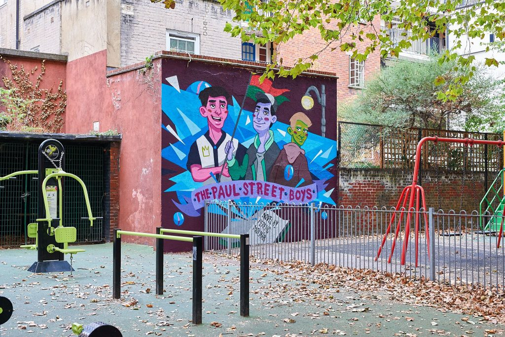 A Mural of The Paul Street Boys Appeared at a London Playground post's picture