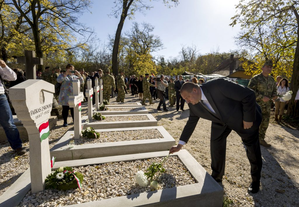 Renewed WWI Plot Inaugurated in Budapest Cemetery post's picture